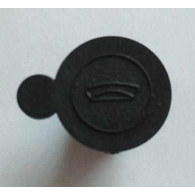 Пломба заглушка с рисунком черная