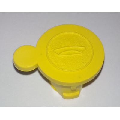 Пломба заглушка с рисунком желтая